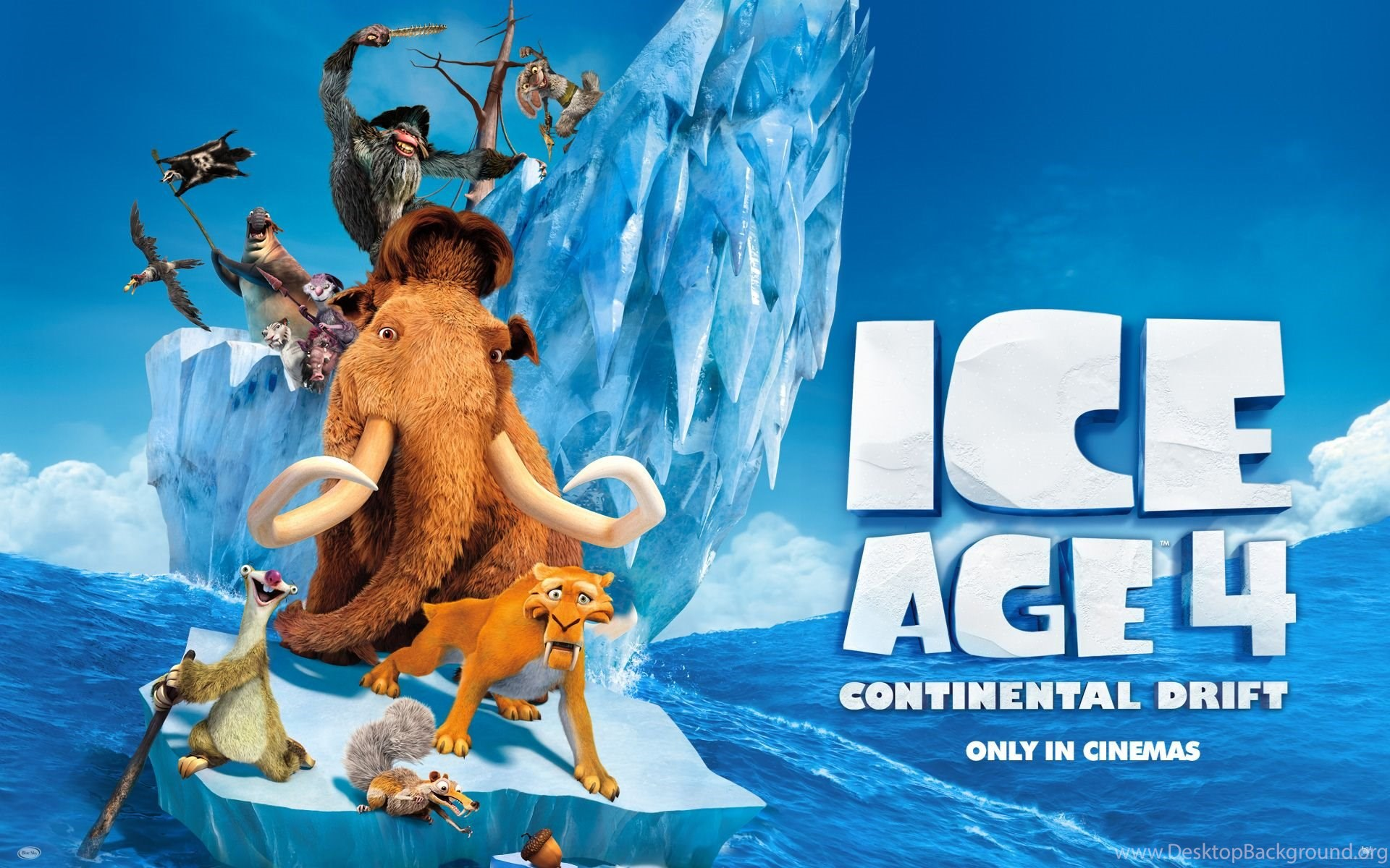 1920x1200px ice age 4 continental drift desktop background
