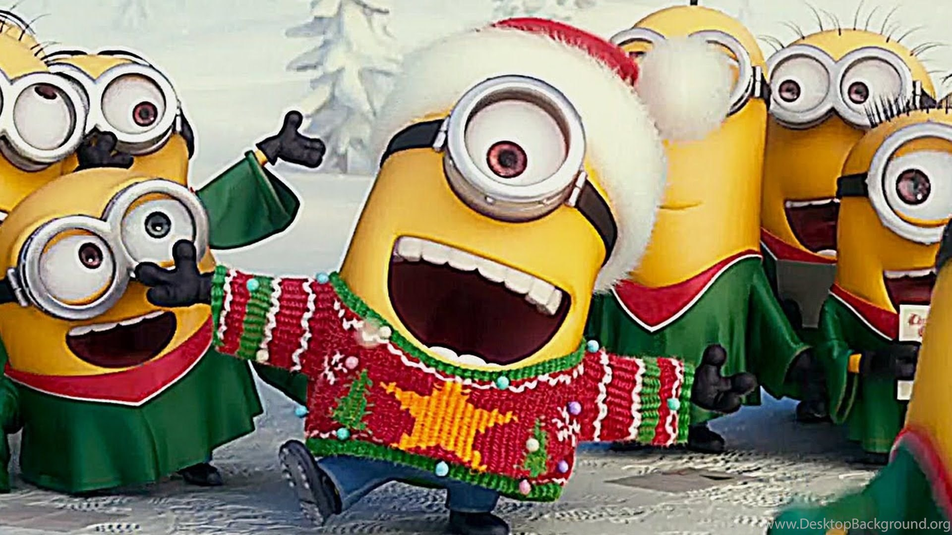 Funny Minion Merry Christmas Wallpapers Sayings: Minions Christmas Trailer Englisch YouTube Desktop Background