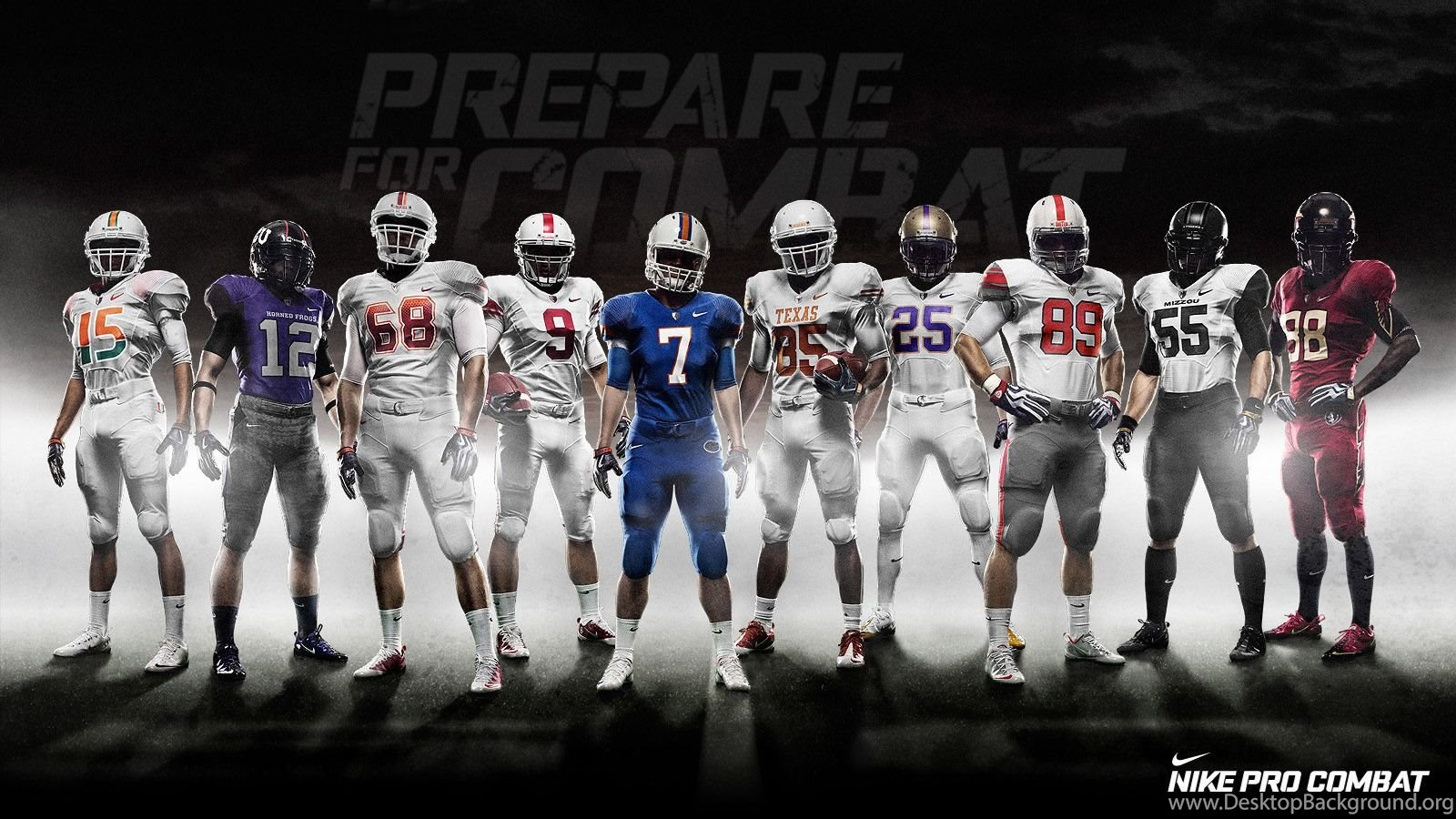 Nike Pro Combat Team Nfl 1600x Football Live Wallpapers In