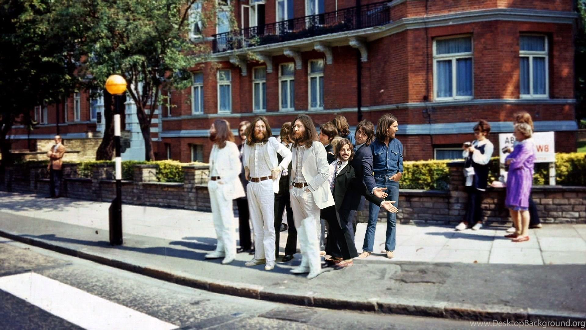 Berpose Ala The Beatles Di Abbey Road London Desktop Background