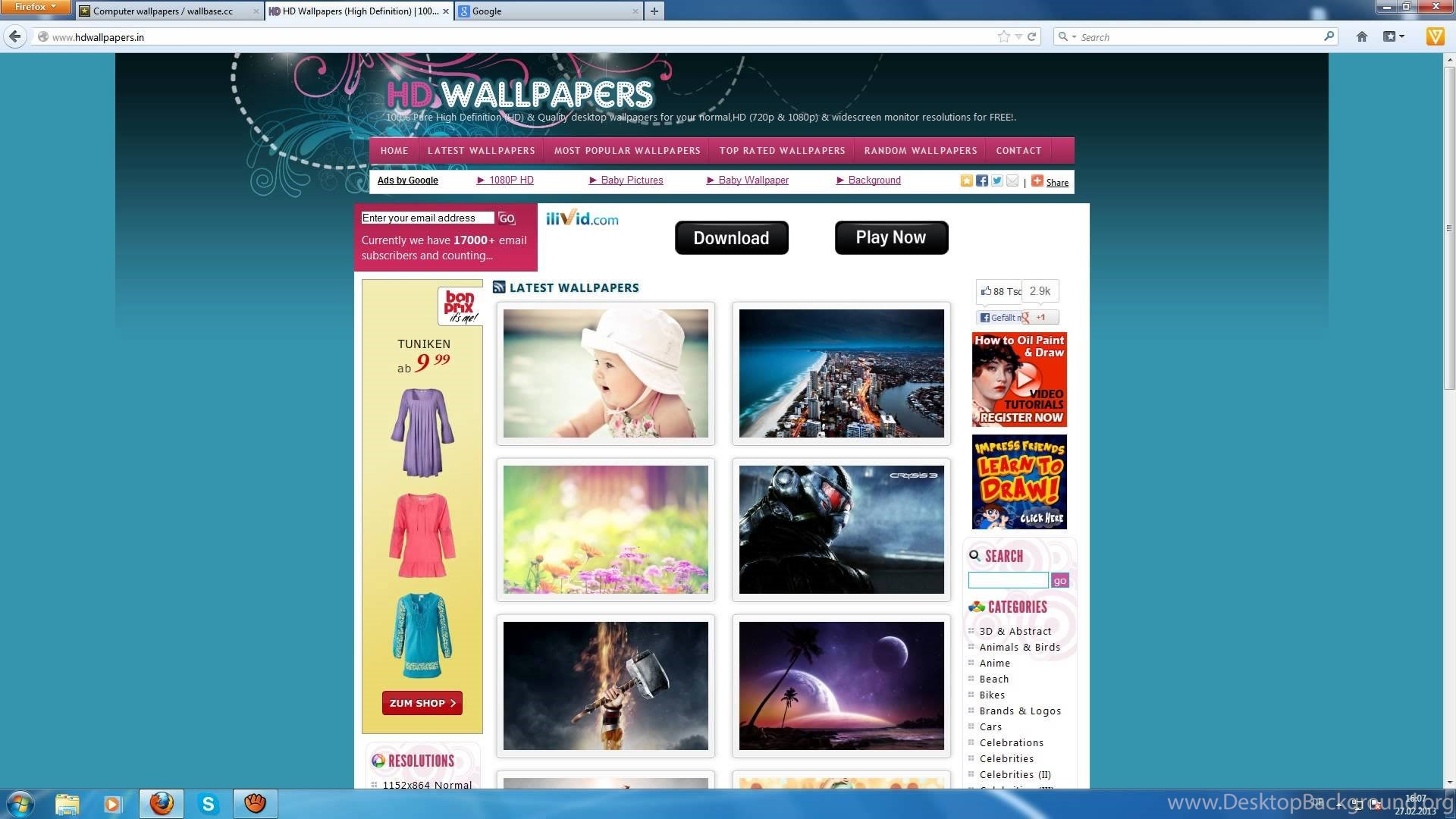 top wallpapers sites (german/hd) youtube desktop background