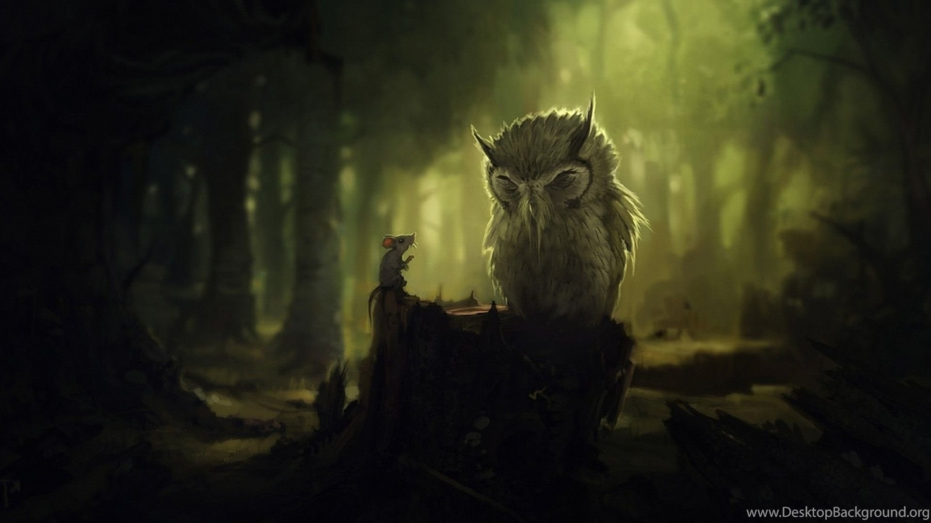 Anime, Nature, Artwork, Owl, Digital Art, Animals, Birds, Forest ...