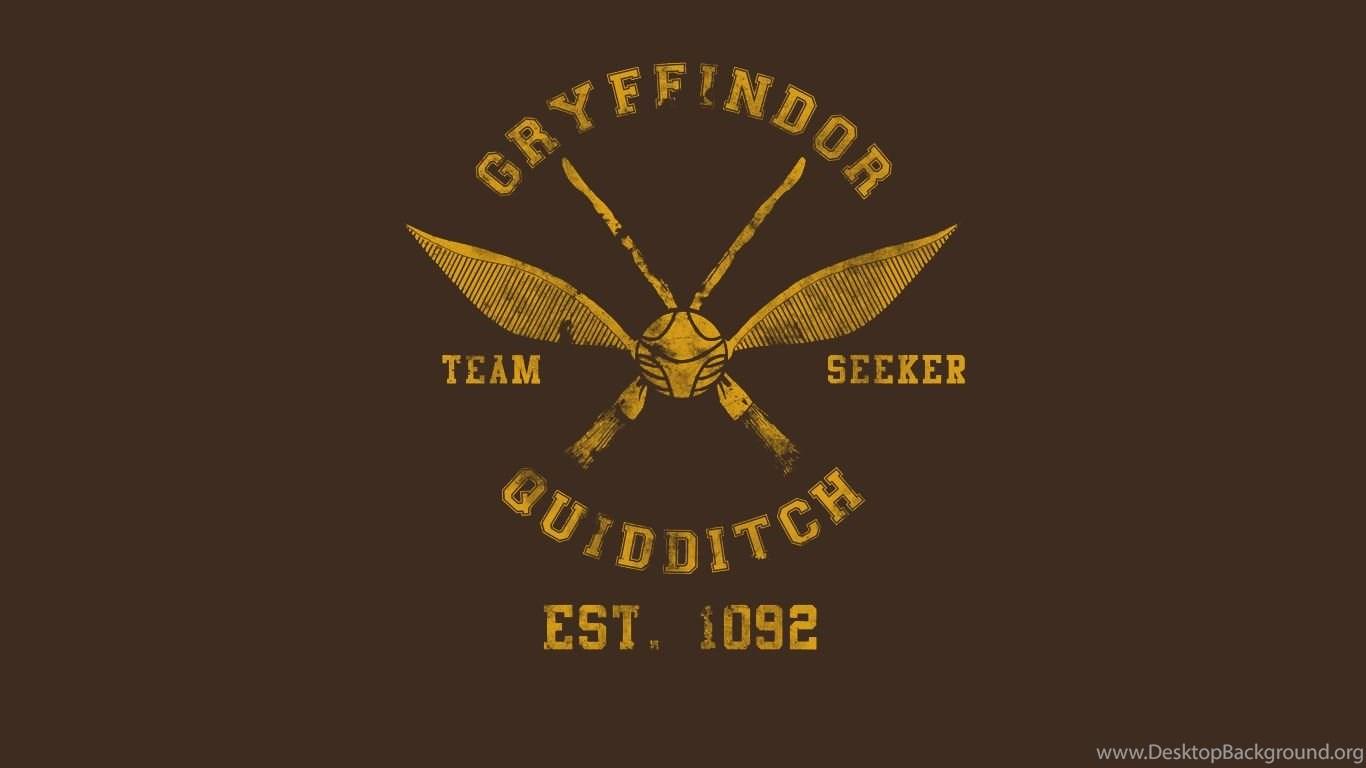 Harry Potter Quidditch Gryffindor Hogwarts Desktop Background