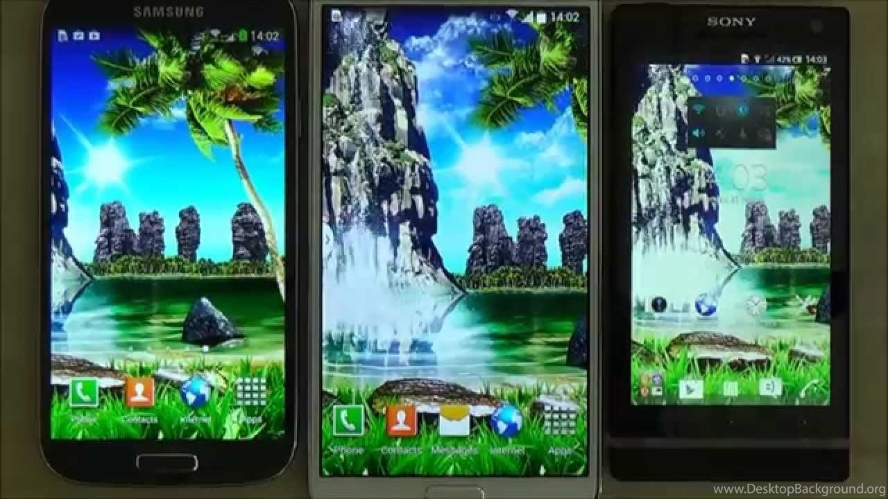 Tropical 3d Waterfall Live Wallpapers With Sound Effect For Android