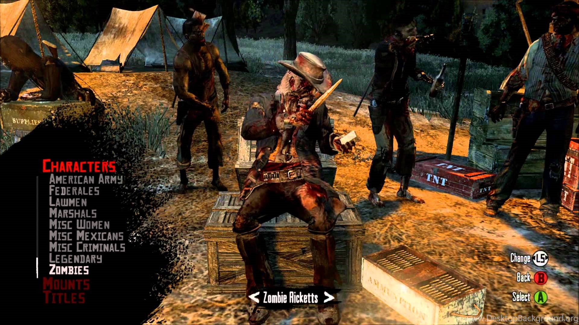 Red Dead Redemption Undead Nightmare All Online Characters