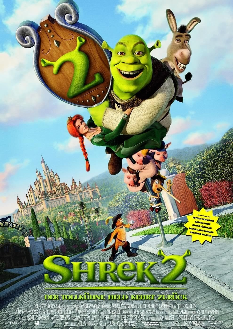Shrek Shrek 2 4 High Definition Widescreen Wallpapers Desktop Background