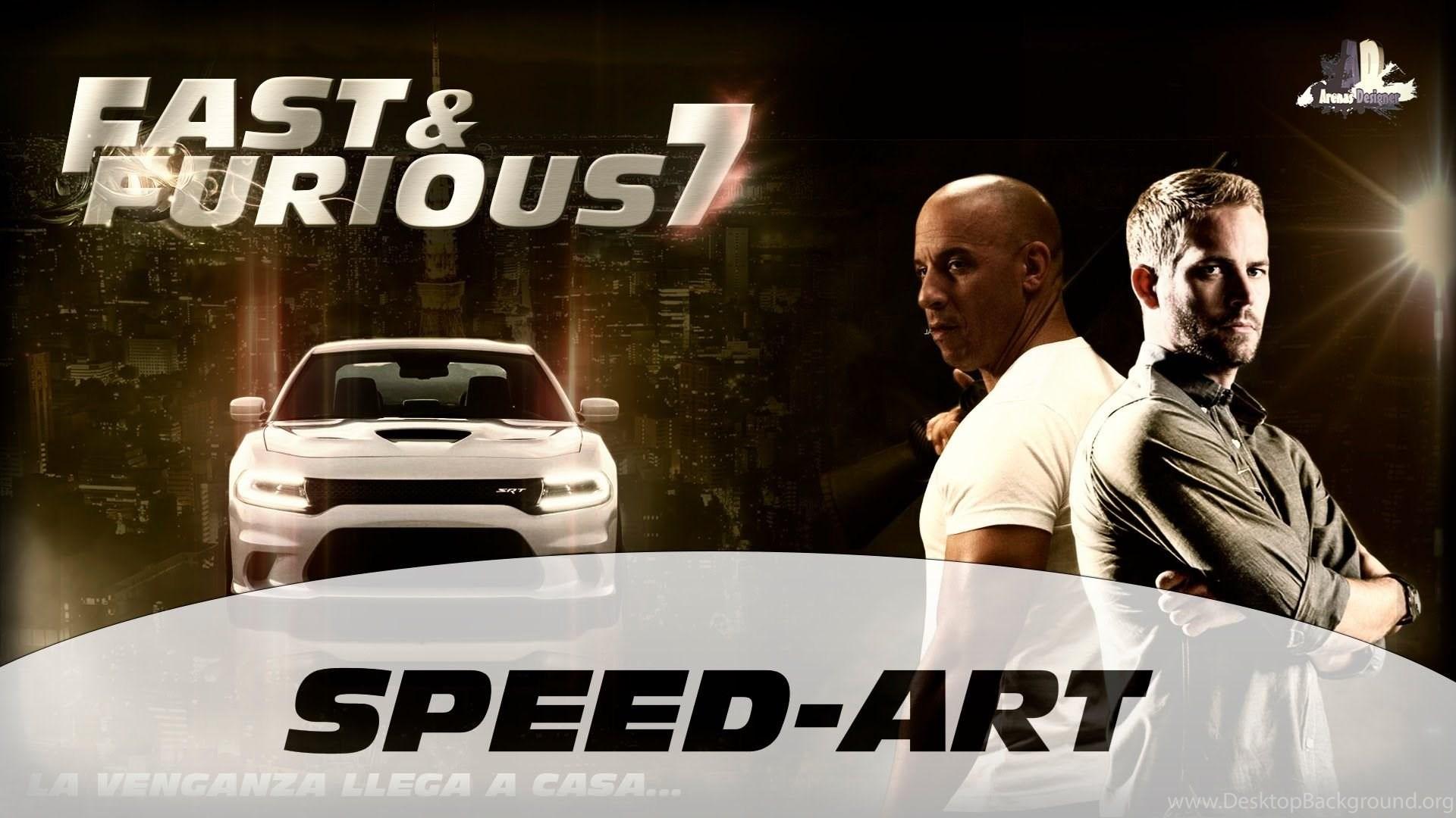 Fast Furious 7 Rapidos Y Furiosos 7 Speed Art Wallpapers