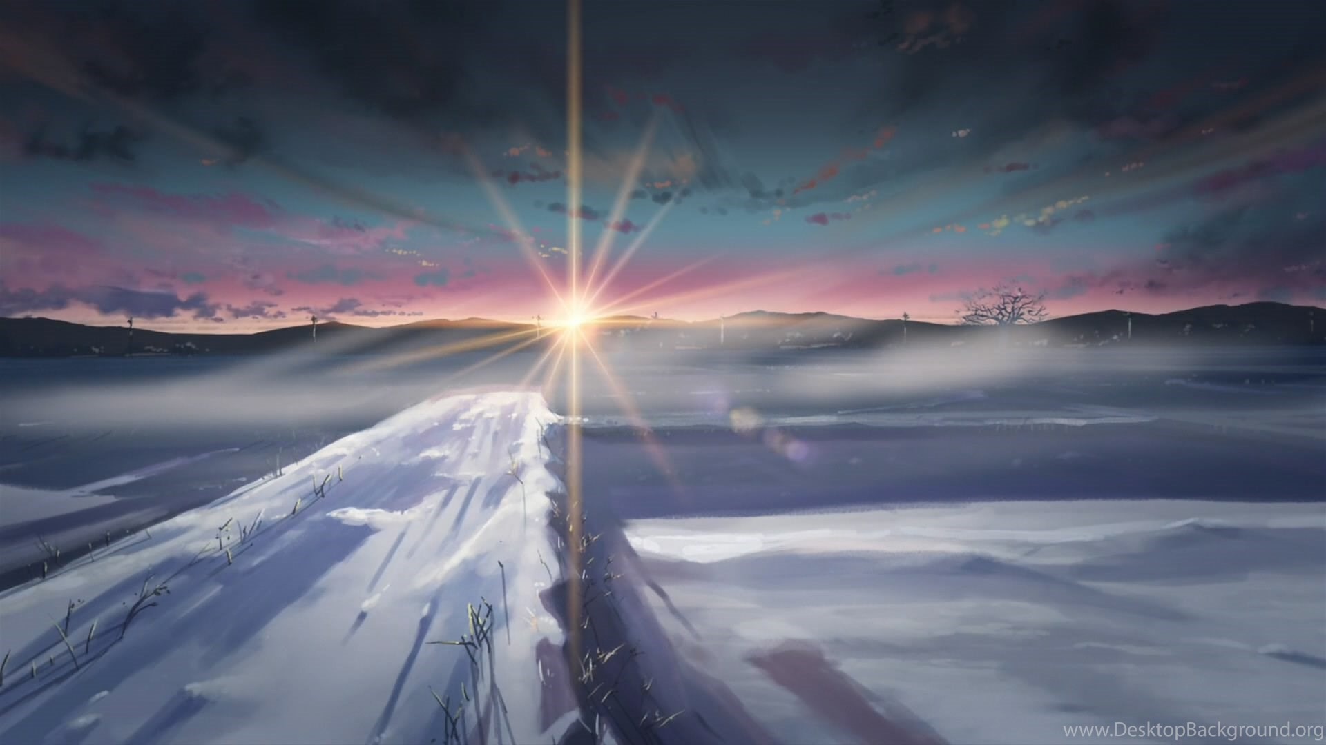 Makoto Shinkai 5 Centimeters Per Second Wallpapers Desktop Background