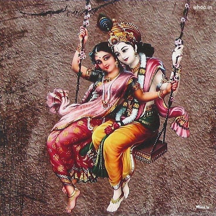 Romantic Love Painting For Radha Krishna Hd Wallpapers Desktop Background