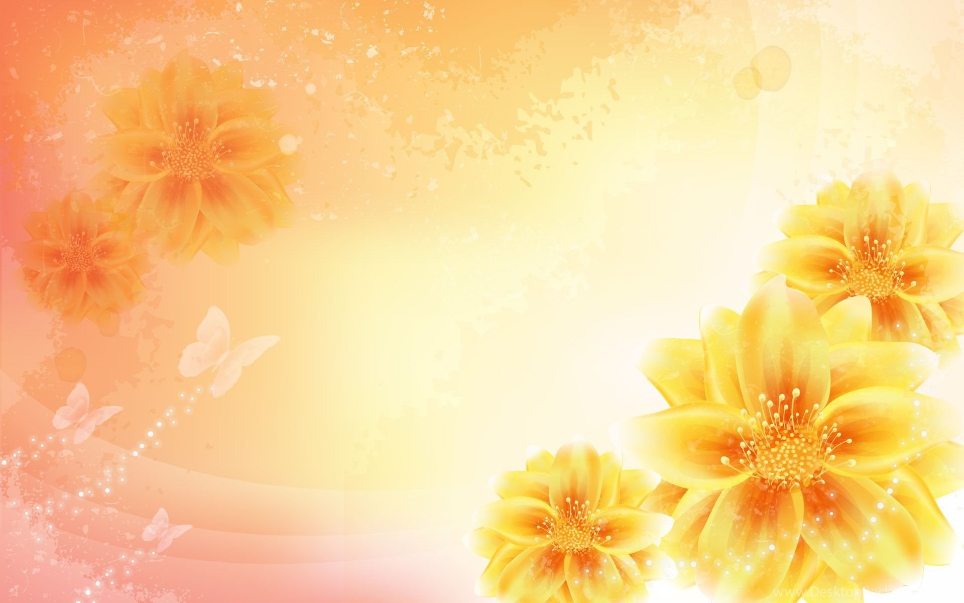 The Gallery For Yellow Flower Backgrounds Desktop Background