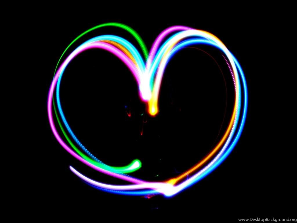 Wallpapers Rainbow Hearts Heart Free Screensavers 1024x768