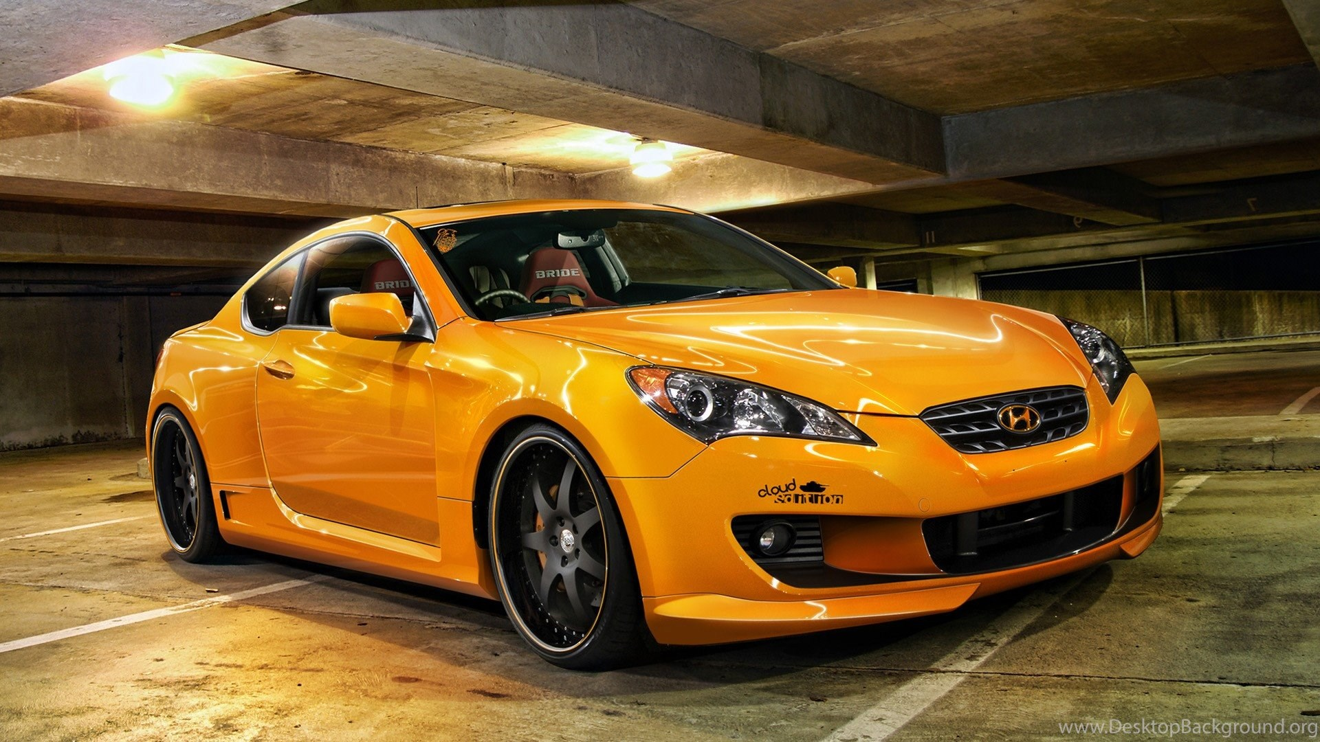 Cars Vehicles Hyundai Hyundai Genesis Orange Cars Wallpapers