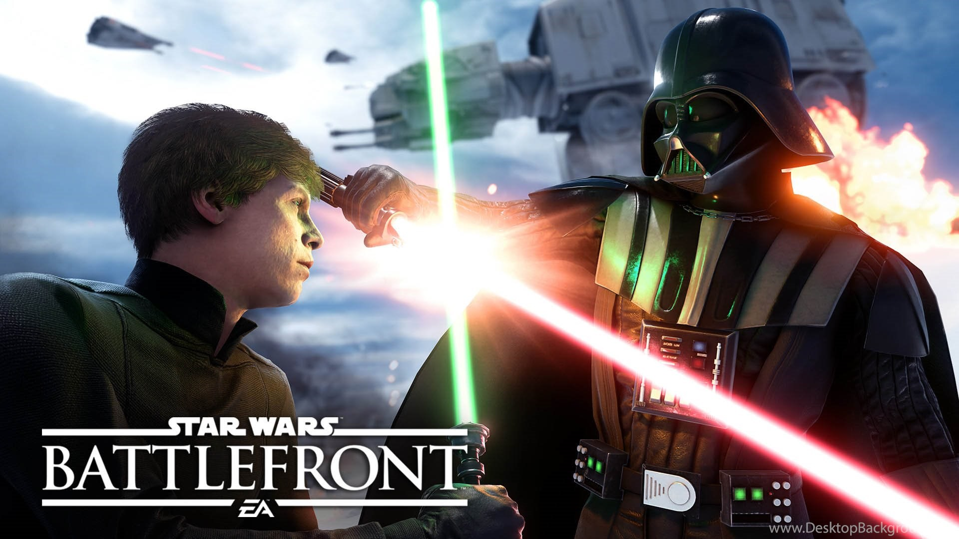 Luke Skywalker Vs Darth Vader Star Wars Battlefront 1920x1080
