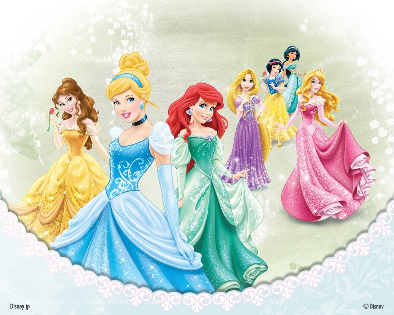 disney princesses wallpapers disney princess wallpapers. Black Bedroom Furniture Sets. Home Design Ideas