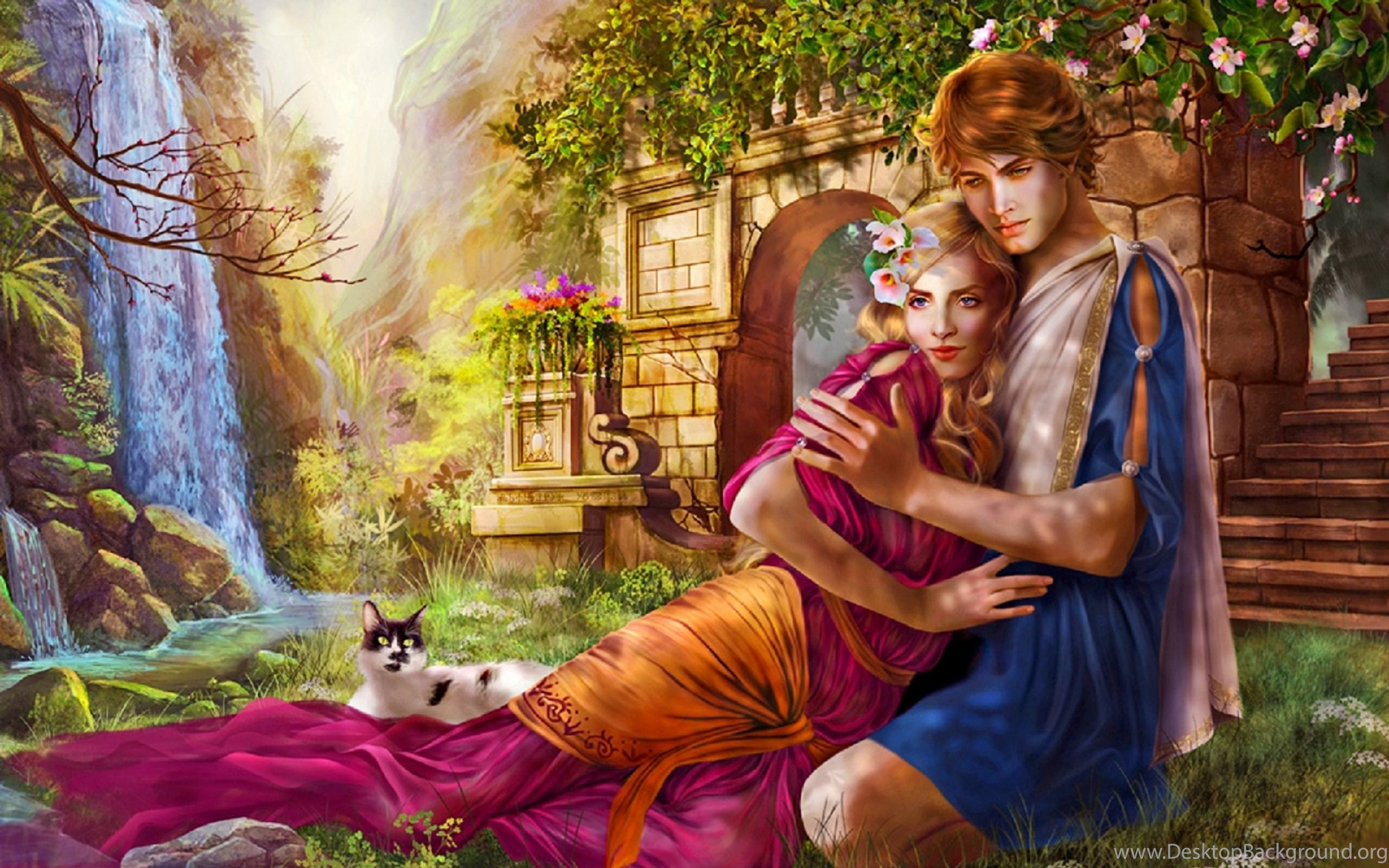 fantasy love art wallpapers desktop background