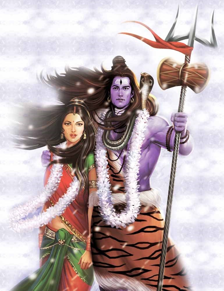 Lord Shiva And Parvati Full Hd Photos Desktop Background