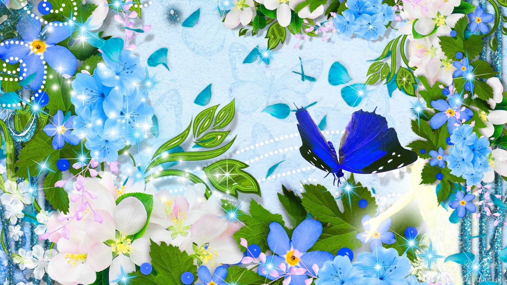 Flowers With Butterfly Wallpapers Hd Wallpapers 1481102 Desktop