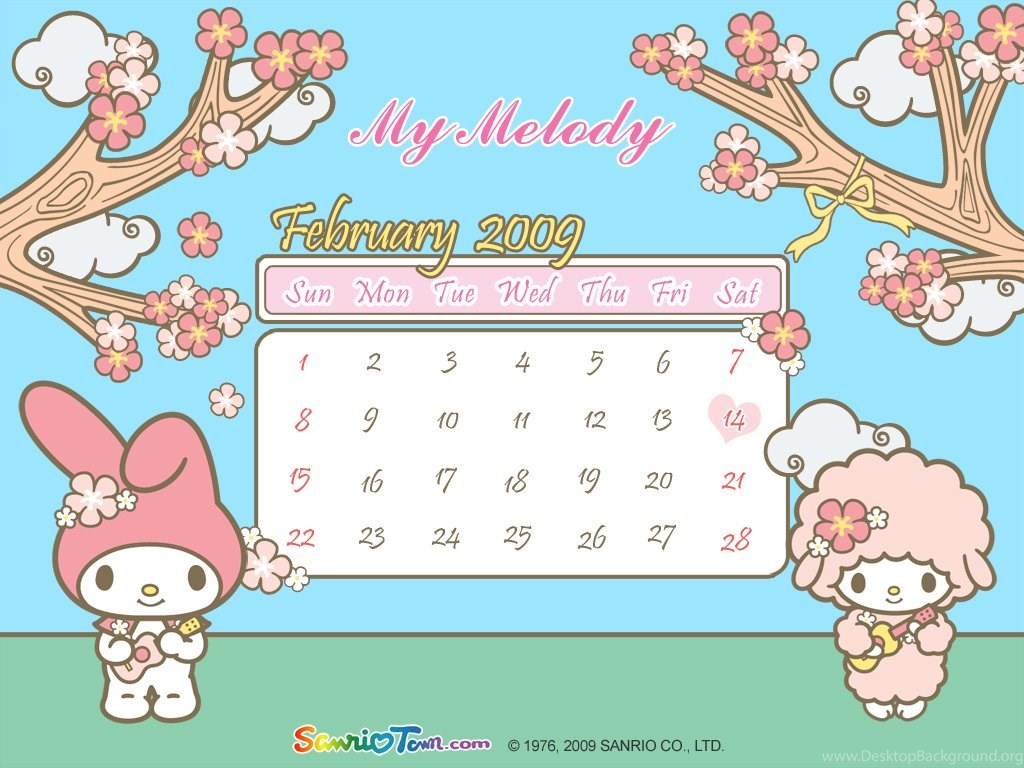 My Melody Calendar Wallpapers My Melody Wallpapers ...