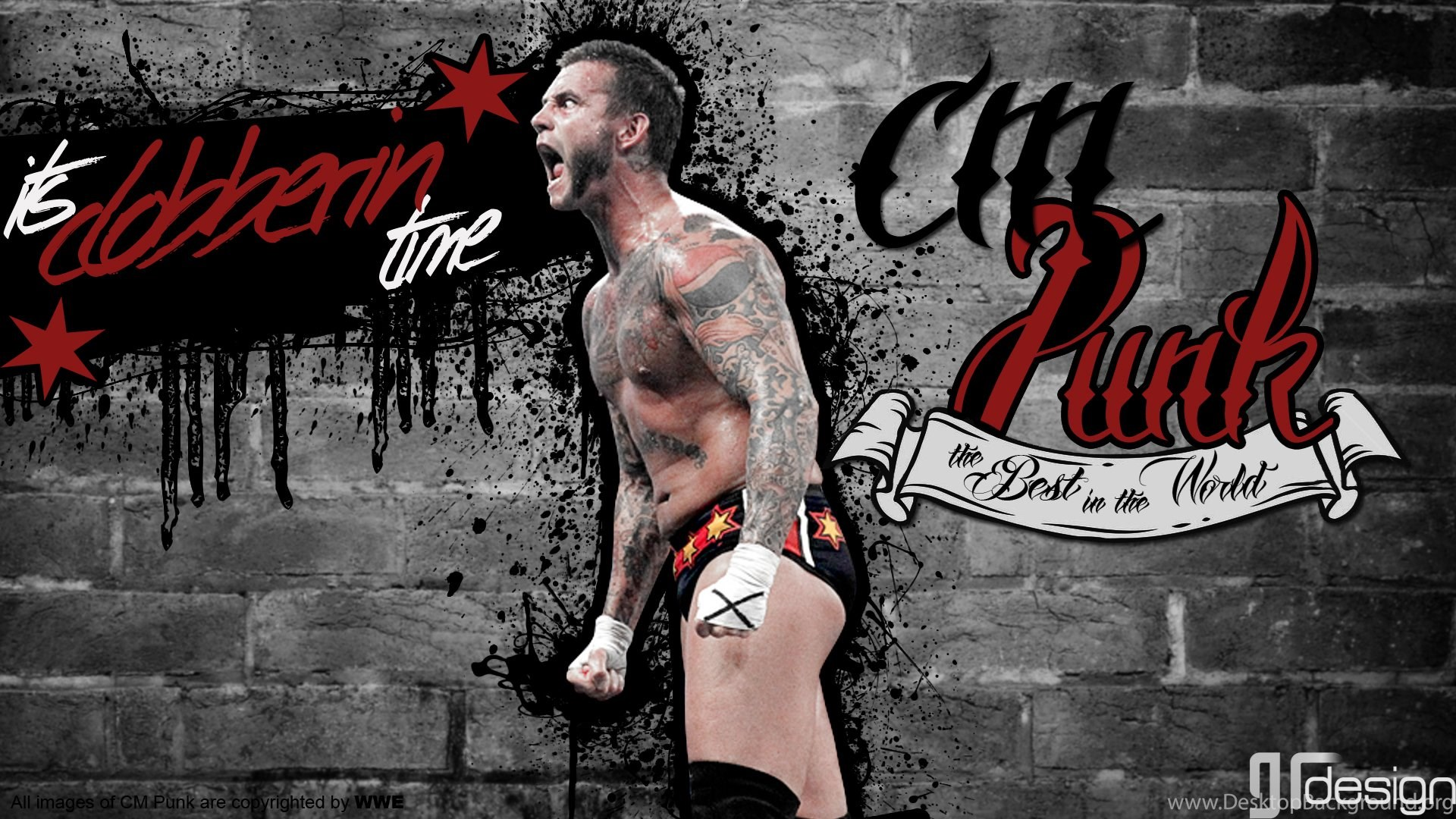 Cm punk wallpapers clobberin time srgambit by srgambit on deviantart popular voltagebd Gallery