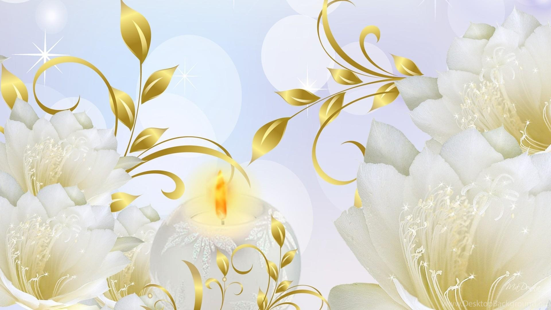 Justpict Com Gold Flowers Wallpapers Desktop Background