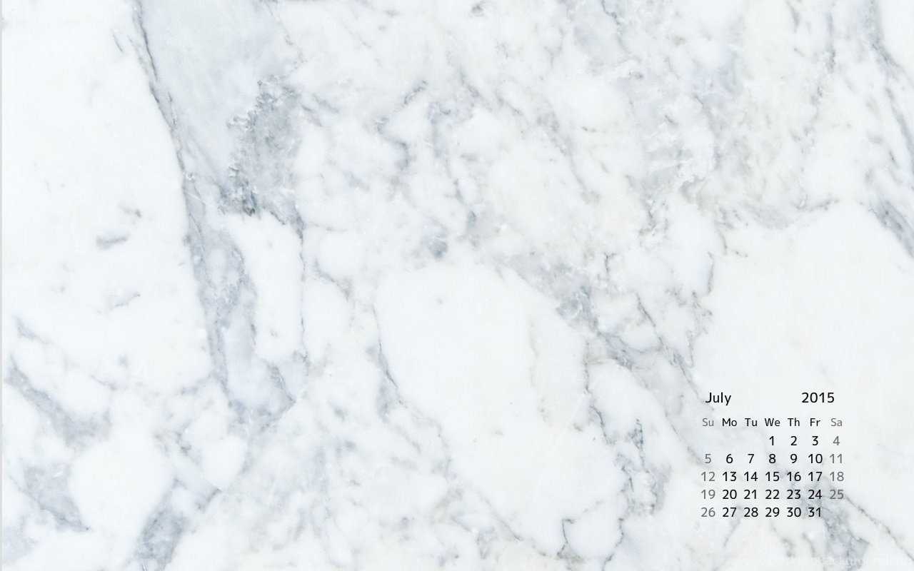 Marble Calendar Wallpaper : Marble desk top calendar for july desktop background