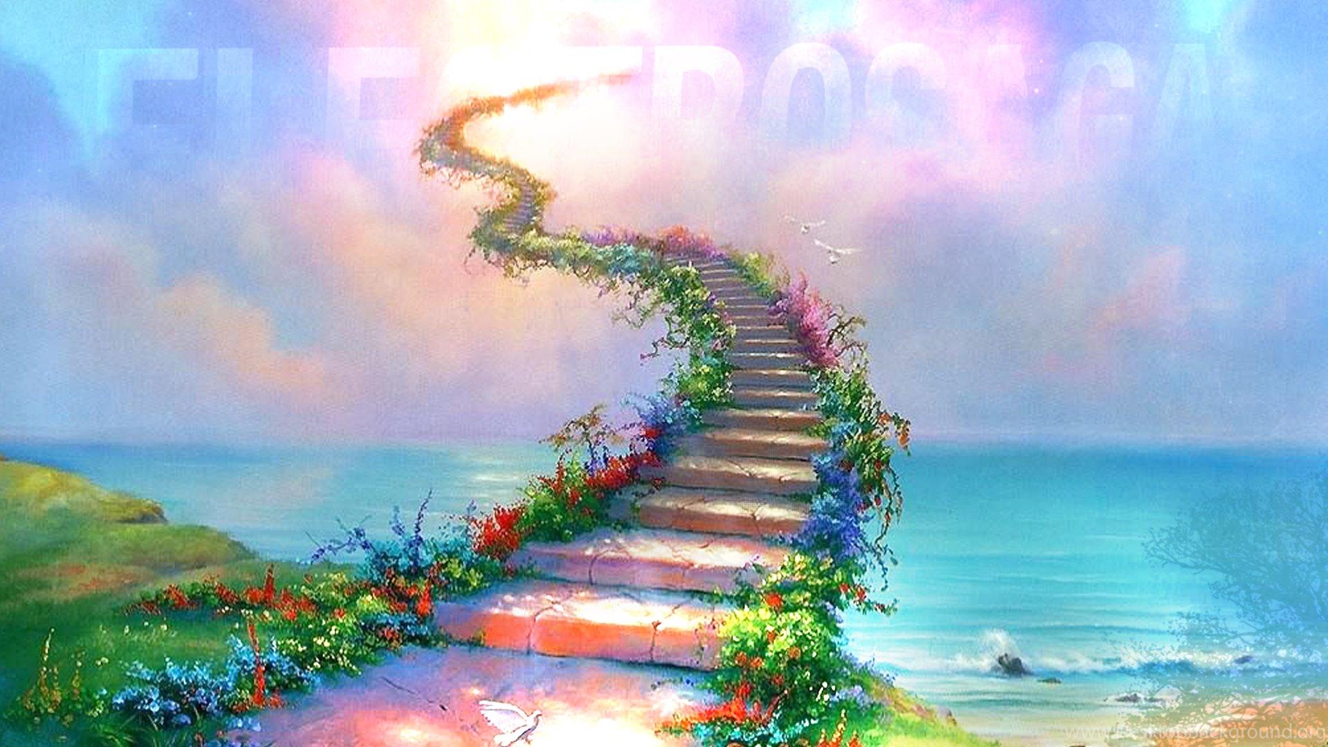 12 Heaven Artwork Stairway To Heaven Desktop Background