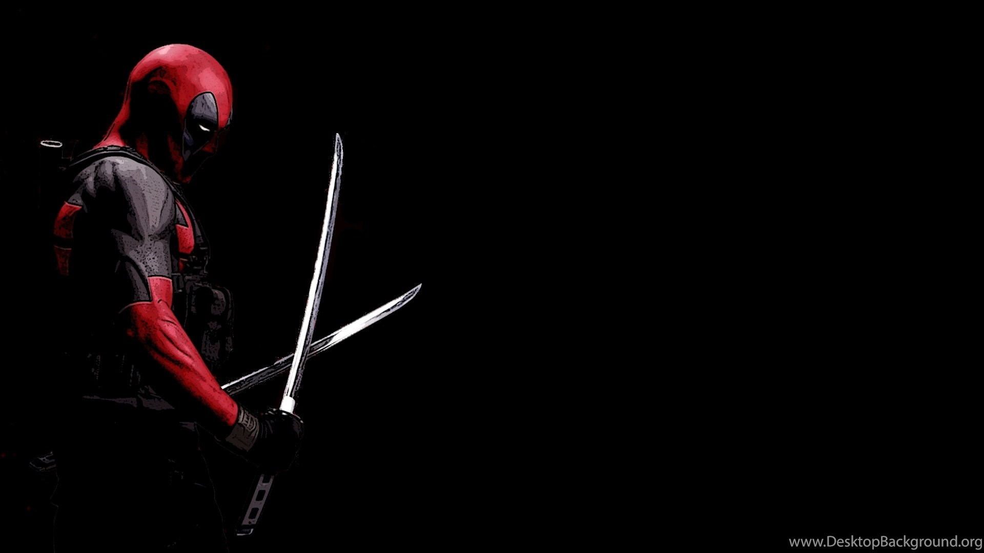 Hd Deadpool Movie Black And Red Wallpapers 1080p Full Size