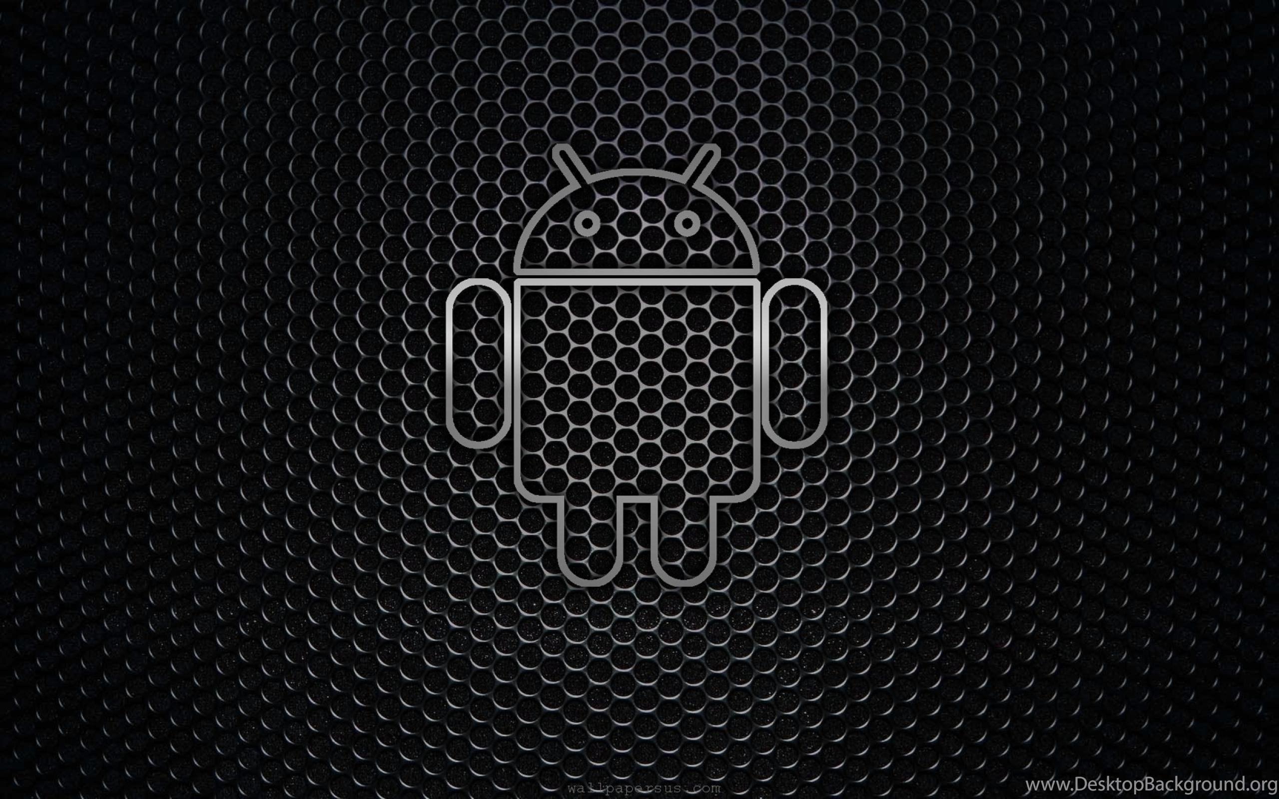 Desktop Android Black Logo Backgrounds Wallpapers
