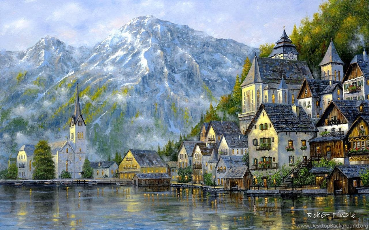 540395 landscape oil painting 2 desktop wallpapers hdnaturewall