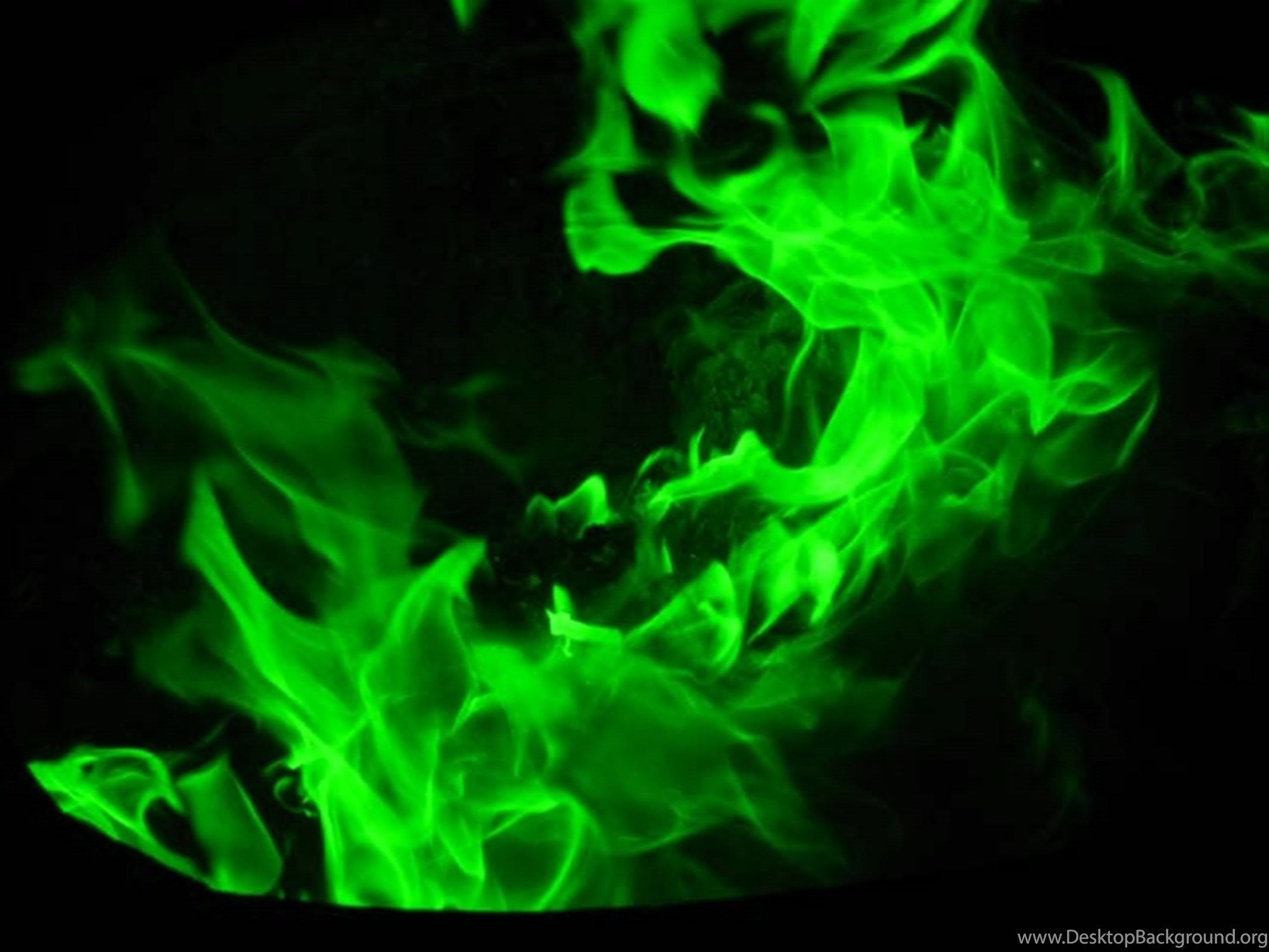 Green Fire Wallpaper Background Fire References...