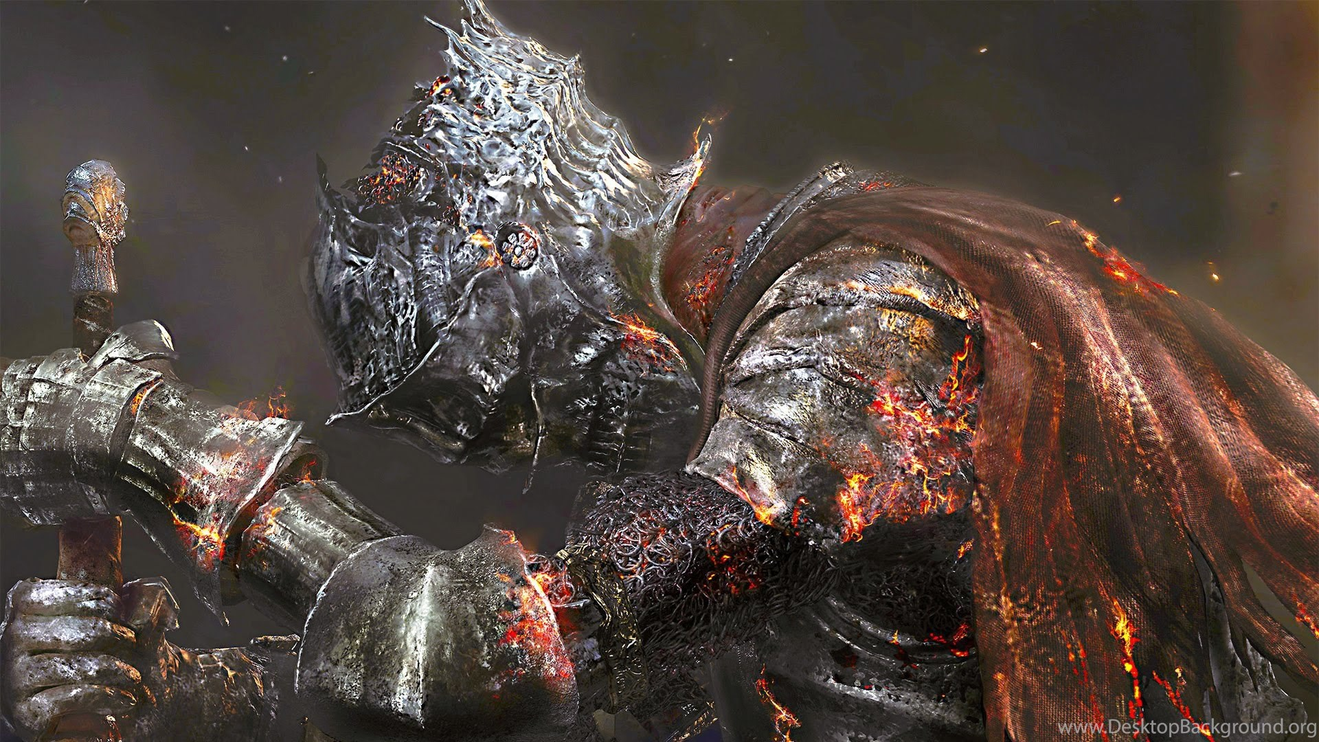 Download Wallpapers 1920x1080 Dark Souls 3 Art Warrior Full Hd