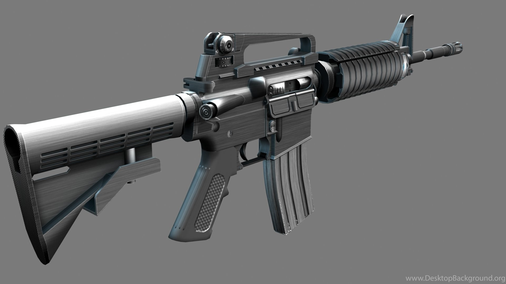 M4A1 Weapon Gun Military Rifle Police Te Wallpapers Desktop Background