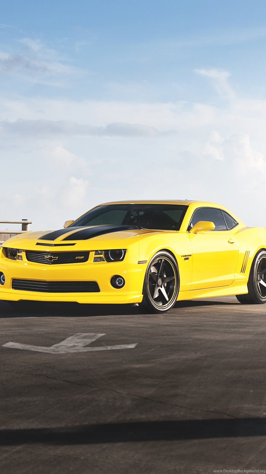 Android Car Wallpapers Chevrolet Camaro Rs Yellow Desktop Background