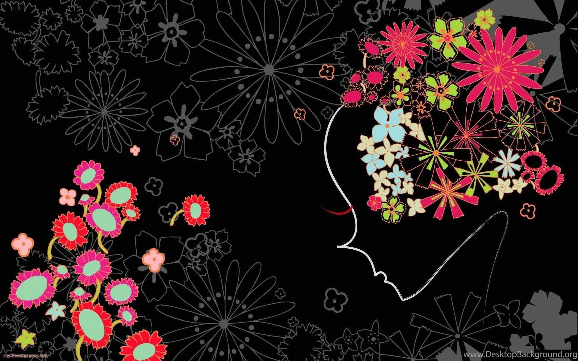 Dark Flower Wallpapers Wallpapers Cave Desktop Background