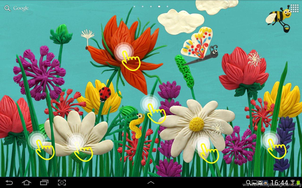 Plasticine Spring Flowers Live Wallpapers Desktop Background