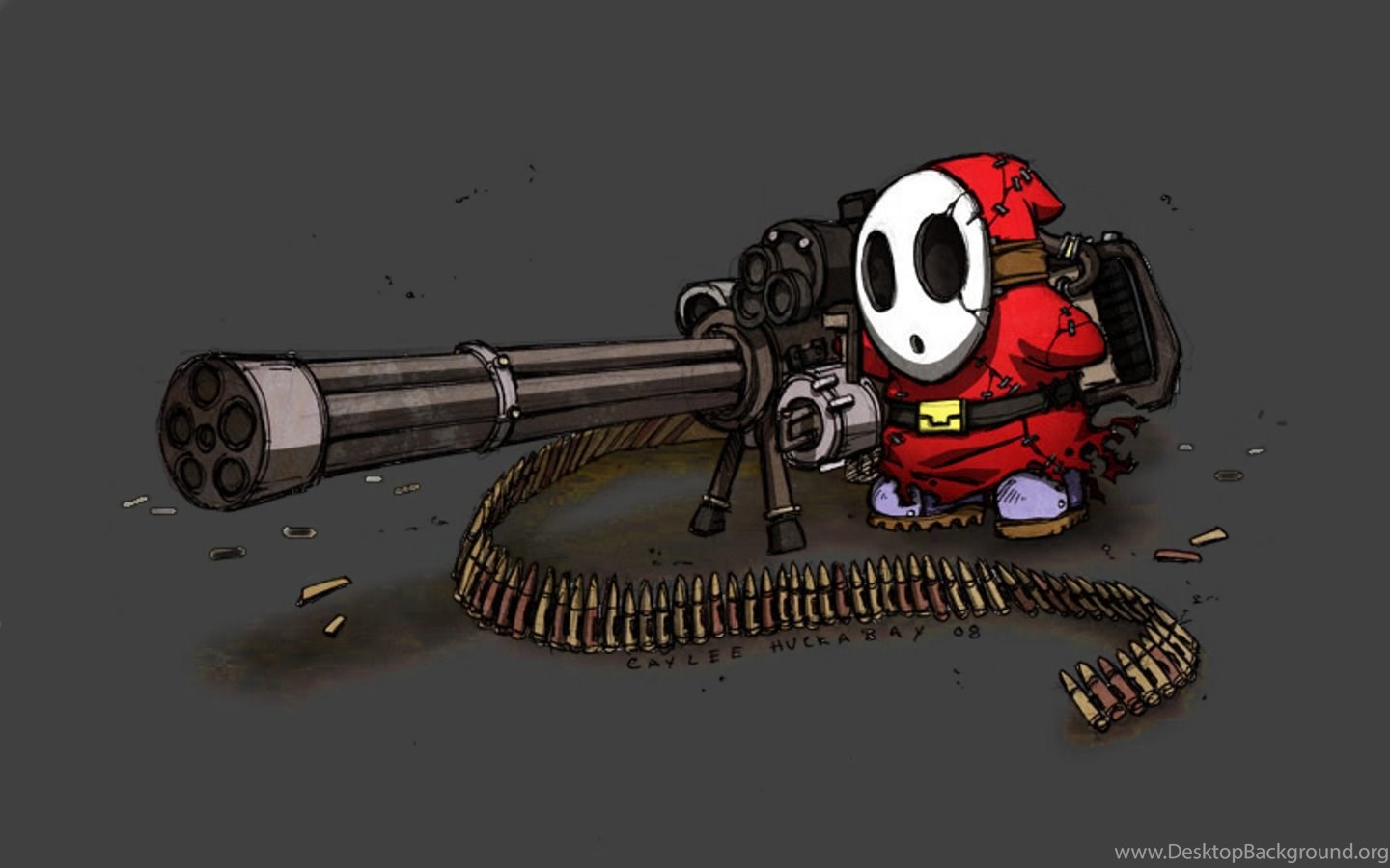 Download The Overkill Gatling Gun Wallpaper, Overkill