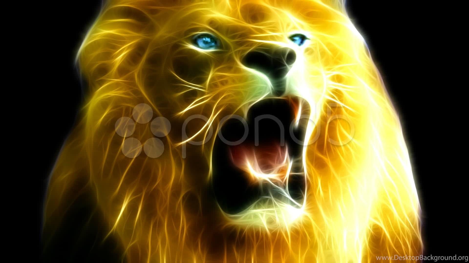 Lion Roars Fractal Rendering Hd Stock Footage YouTube Desktop