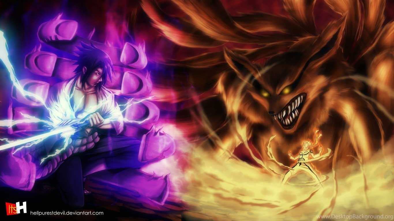 Gambar Foto Naruto Vs Sasuke Berubah Keren Gambar Kata Kata Desktop Background