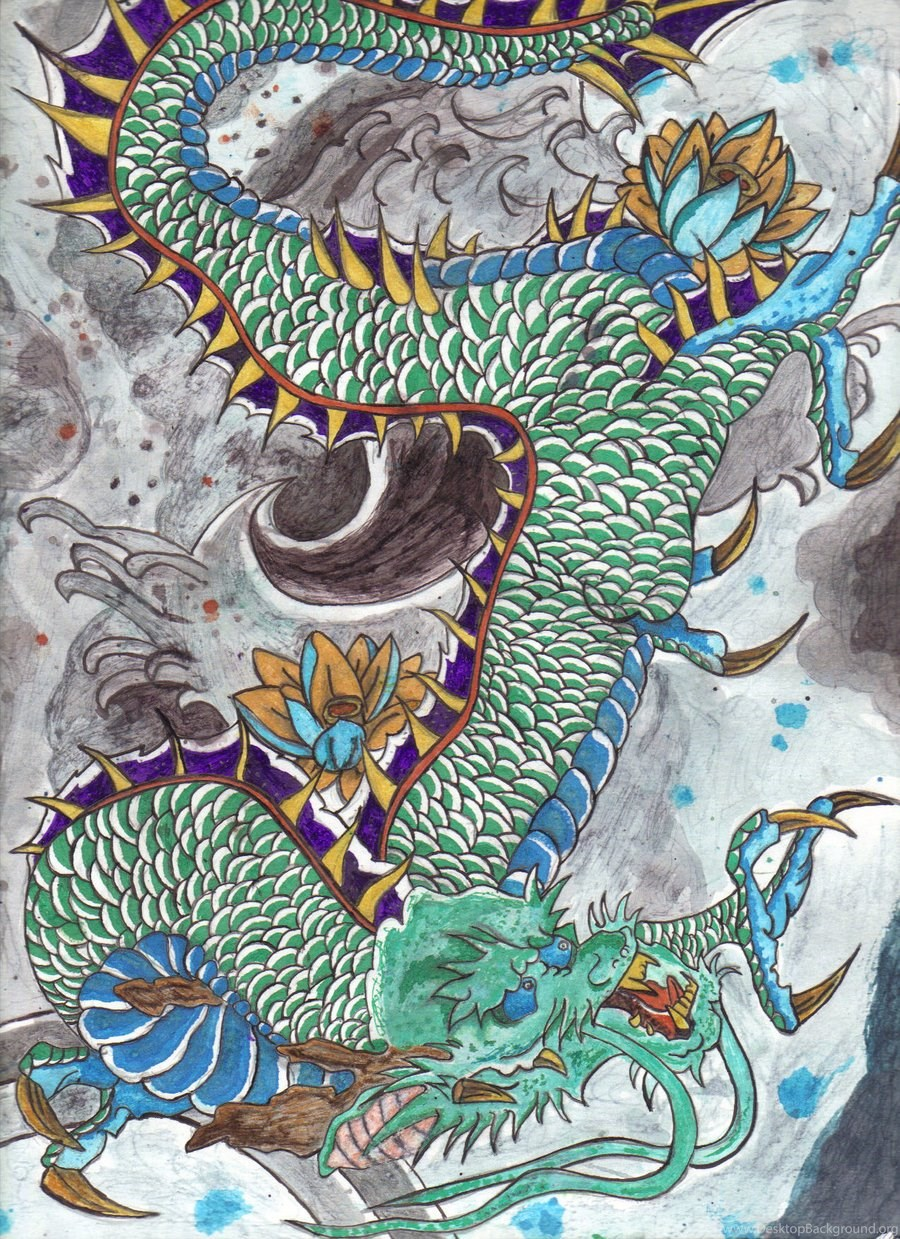 Jestingstock Com Traditional Japanese Art Wallpapers Dragon Desktop Background