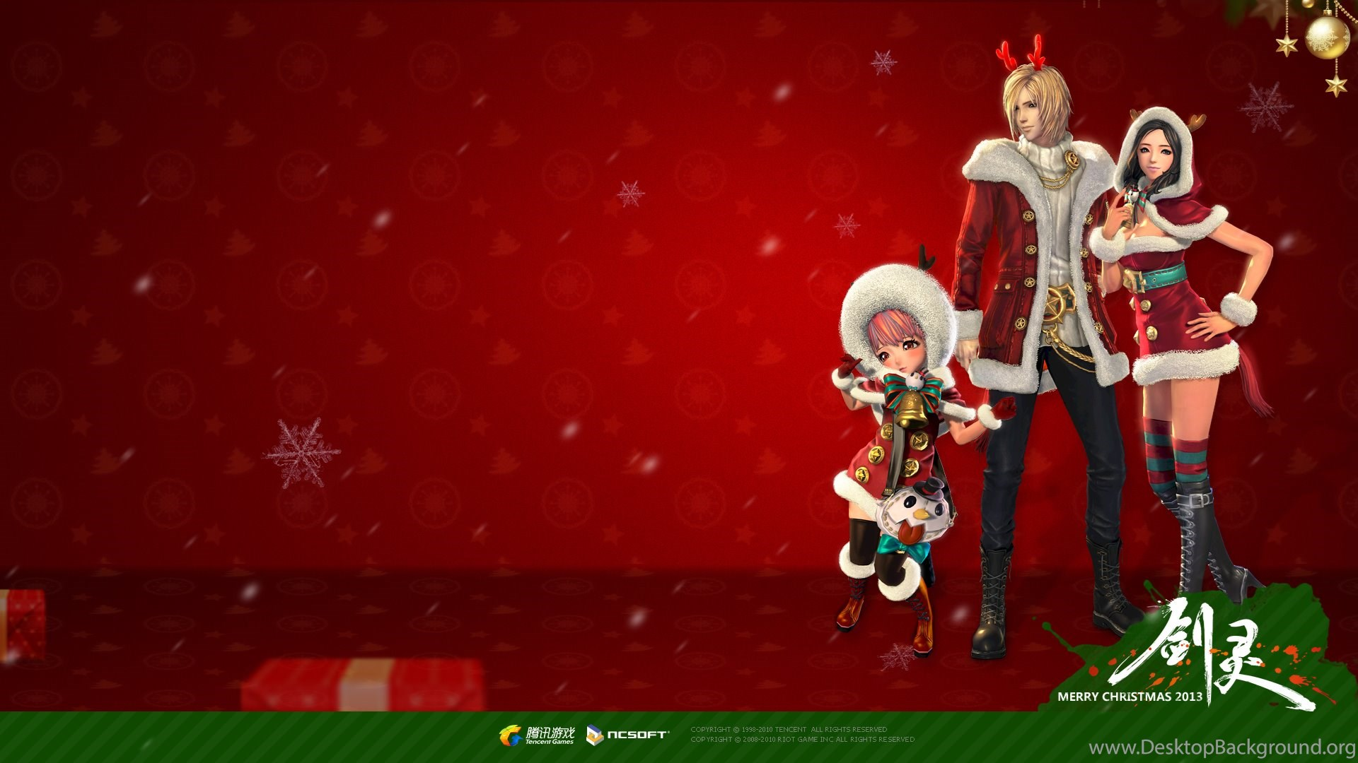 Featured Gallery Blade & Soul Christmas themed Wallpapers 2P