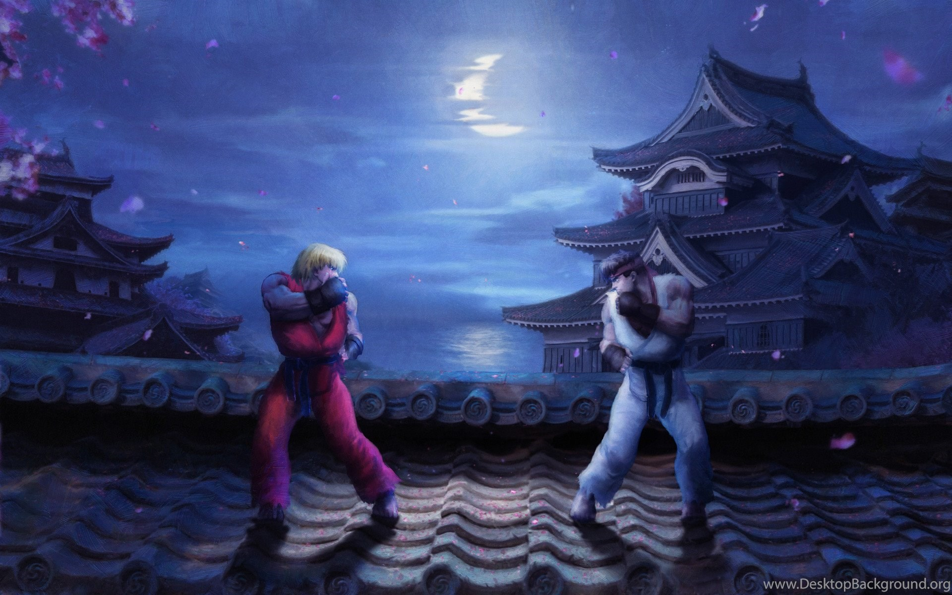 Sweet spring night street fighter 2 inspired wall by - Street fighter 2 wallpaper hd ...