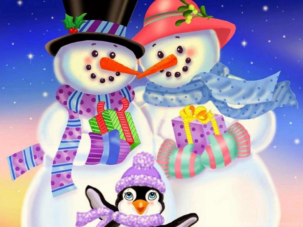 Картинки снеговики и тигры
