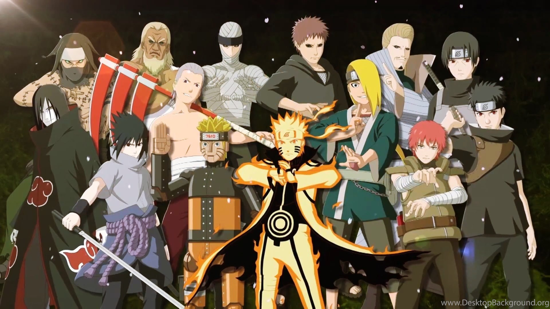 Naruto Characters In Real World Background Wallpaper: Naruto Shippuden All Characters Wallpapers Wallpapers Zone