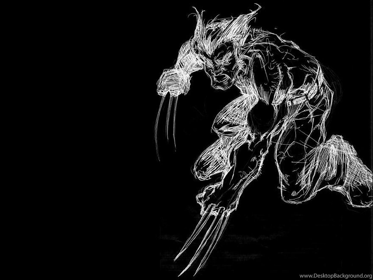 wallpapers hd 1080p black and white wolverine desktop background