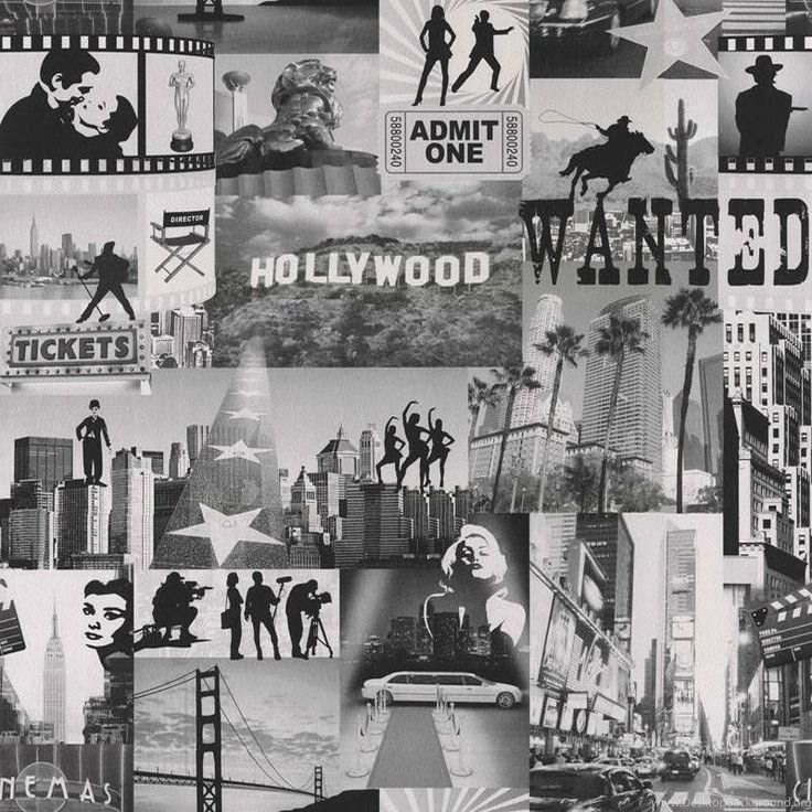 Retro Iconic Hollywood Movie Stars Wallpapers Bedroom New York Desktop Background