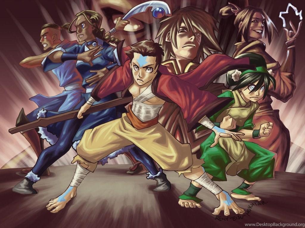 Aang Avatar The Last Airbender Azula Katara Sokka Wallpapers