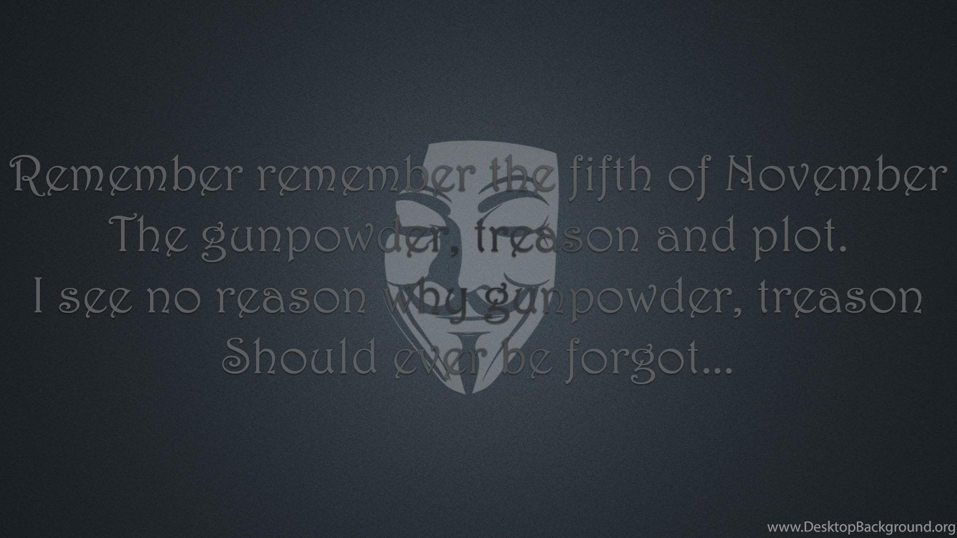 Quotes Typography Poem November V For Vendetta Wallpapers Desktop