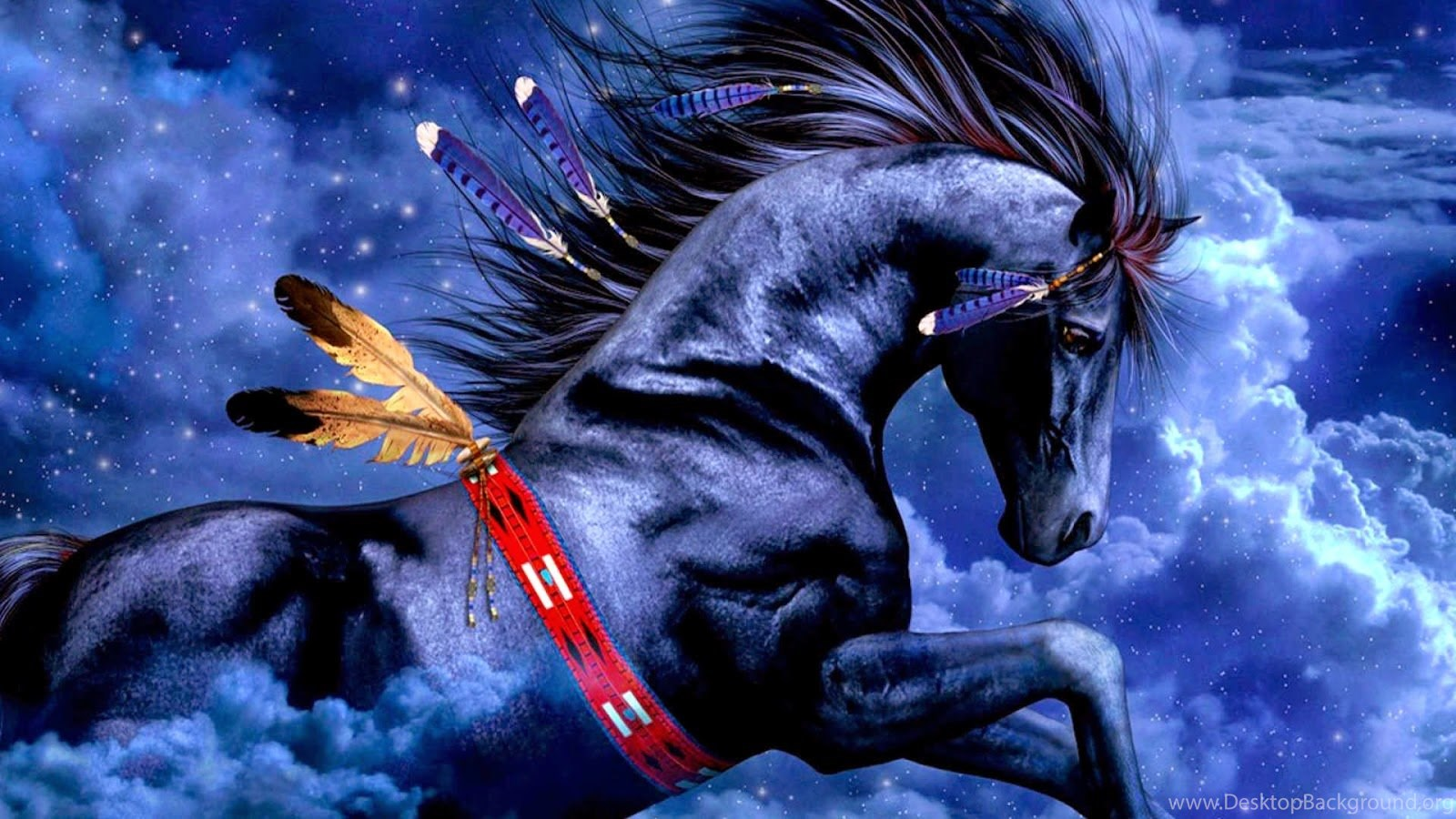 Blue Horse 3d Wallpapers Hd Download Wallpapers For Pc Desktop Background