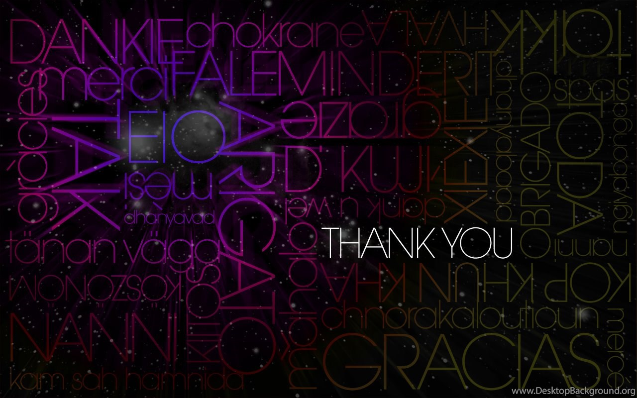 Thank You Text Hd Wallpapers Free Hd Wallpapers Desktop