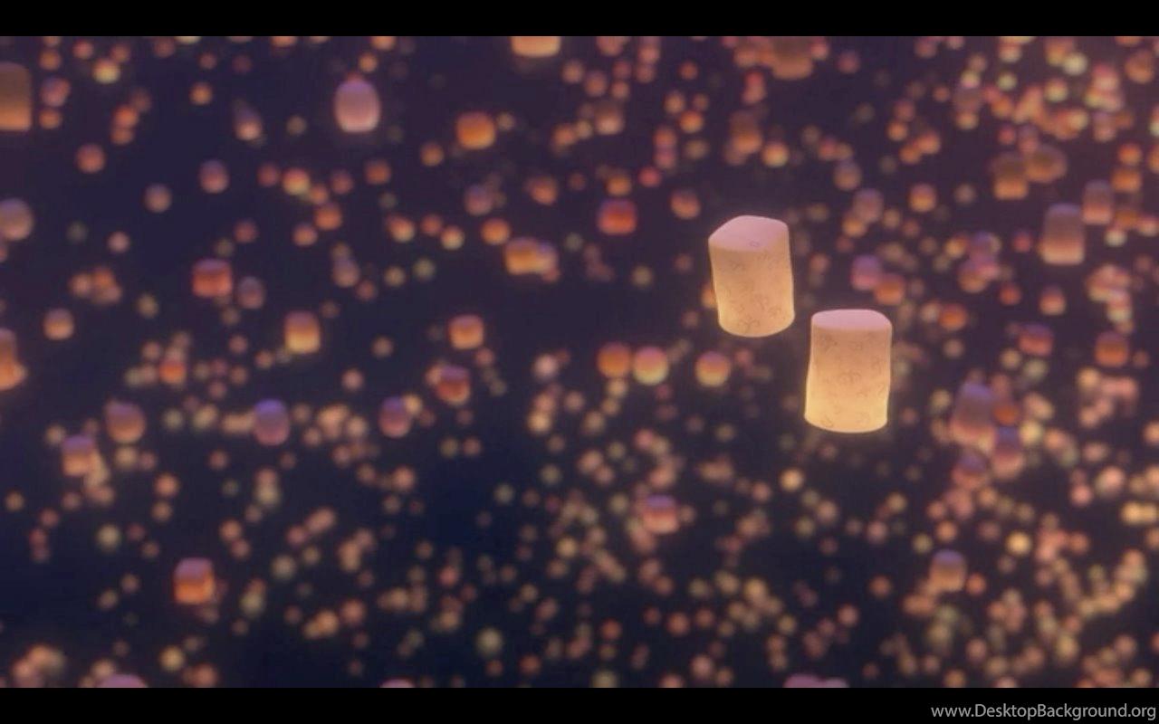 Sky Lanterns Desktop Background